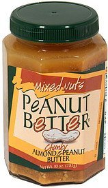peanut butter almond & peanut Mixed Nuts Nutrition info