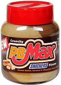 peanut butter, caramel & chocolate flavor spread snickers flavor PB Max Nutrition info