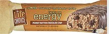 peanut butter chocolate chip energy bar Life Choice Nutrition info