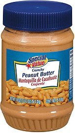 peanut butter crunchy Special Value Nutrition info