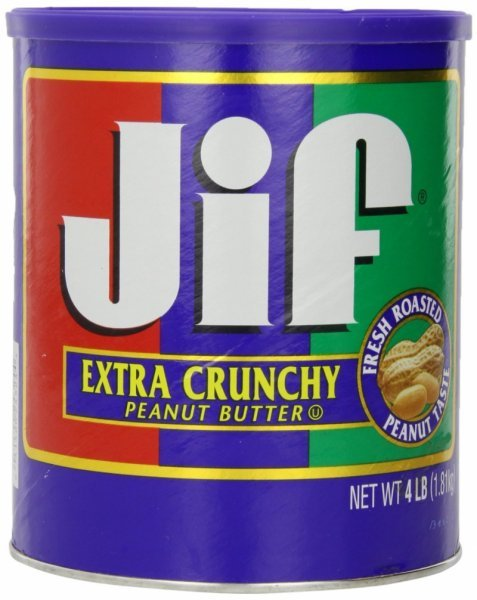 peanut butter extra crunchy Jif Nutrition info