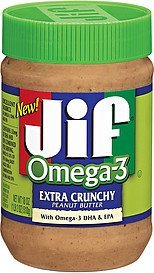 peanut butter omega 3 extra crunchy Jif Nutrition info