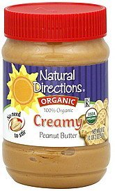 peanut butter organic, creamy Natural Directions Nutrition info