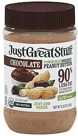 peanut butter powdered organic, chocolate Just Great Stuff Nutrition info