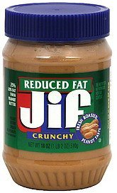 peanut butter reduced fat, crunchy Jif Nutrition info