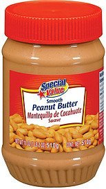 peanut butter smooth Special Value Nutrition info