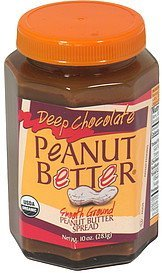 peanut butter spread deep chocolate, smooth ground Peanut Better Nutrition info
