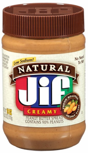 peanut butter spread natural, creamy Jif Nutrition info