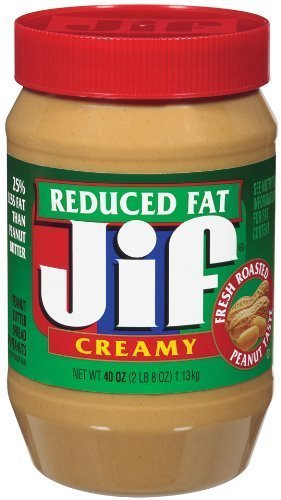 peanut butter spread reduced fat, creamy Jif Nutrition info