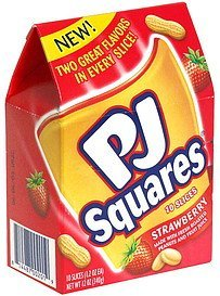 peanut butter & strawberry jelly PJ Squares Nutrition info