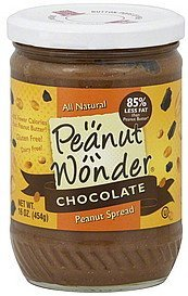 peanut spread chocolate Peanut Wonder Nutrition info