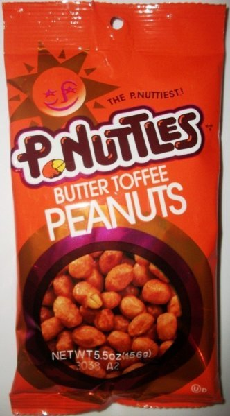 peanuts butter toffee P. Nuttles Nutrition info