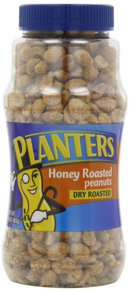 peanuts dry roasted, honey roasted Planters Nutrition info