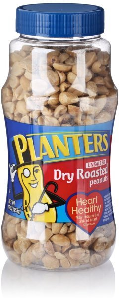 peanuts dry roasted, unsalted Planters Nutrition info