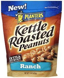 peanuts kettle roasted, ranch Planters Nutrition info