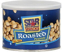 peanuts roasted, salted Star Snacks Nutrition info