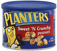 peanuts sweet 'n crunchy Planters Nutrition info