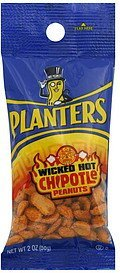 peanuts wicked hot chipotle Planters Nutrition info
