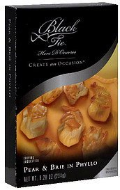 pear & brie in phyllo Black Tie Nutrition info