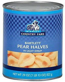 pear halves bartlett Midwest Country Fare Nutrition info
