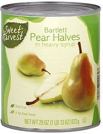 pear halves bartlett Sweet Harvest Nutrition info