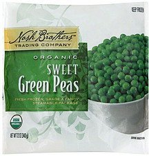 peas organic, sweet green Nash Brothers Trading Company Nutrition info