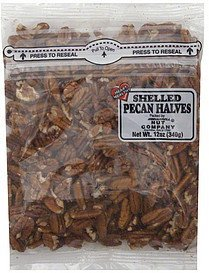 pecan halves shelled Harrell Nut Company Nutrition info