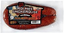 pecan smoked sausage made with beef Holmes Smokehouse Nutrition info
