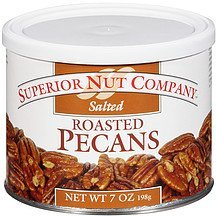 pecans salted roasted Superior Nut Company Nutrition info