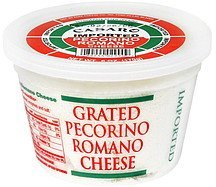 pecorino romano cheese grated Casaro Nutrition info