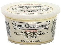 pecorino romano cheese Cognati Cheese Company Nutrition info
