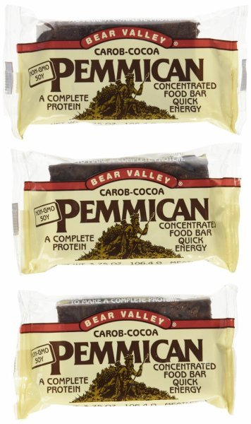 pemmican food bar carob - cocoa Bear Valley Nutrition info