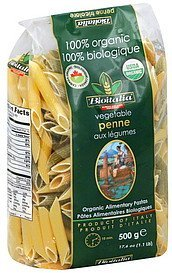penne vegetable Bioitalia Nutrition info