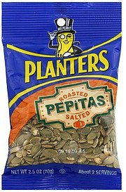 pepitas roasted, salted Planters Nutrition info