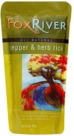 pepper & herb rice Fox River Nutrition info