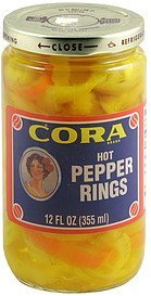 pepper rings hot Cora Nutrition info