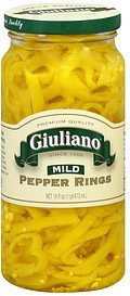 pepper rings mild Giuliano Nutrition info
