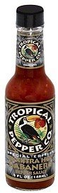 pepper sauce extra hot habanero Tropical Pepper Co. Nutrition info