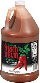 pepper sauce red devil cayenne Trappeys Nutrition info