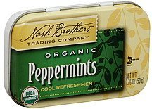 peppermints organic Nash Brothers Trading Company Nutrition info
