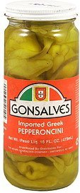 pepperoncini imported greek Gonsalves Nutrition info