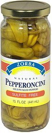 pepperoncini mild pickled peppers Zorba Nutrition info