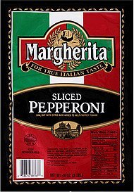 pepperoni sliced Margherita Nutrition info