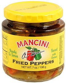 peppers fried sweet with onions Mancini Nutrition info