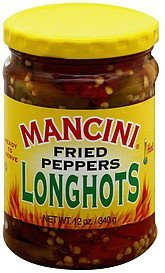 peppers long hot fried Mancini Nutrition info