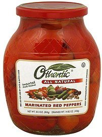 peppers marinated red Othentic Nutrition info