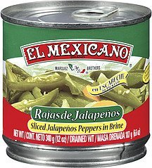 peppers sliced jalapeno El Mexicano Nutrition info