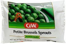 petite brussels sprouts C&W Nutrition info