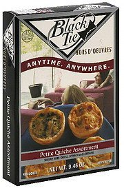 petite quiche assortment Black Tie Nutrition info