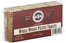 petits toasts whole wheat Trois Petits Cochons Nutrition info